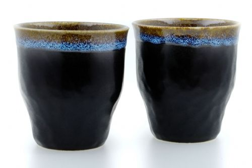 Milky Way Ceramic Japanese Tea Cups X 2